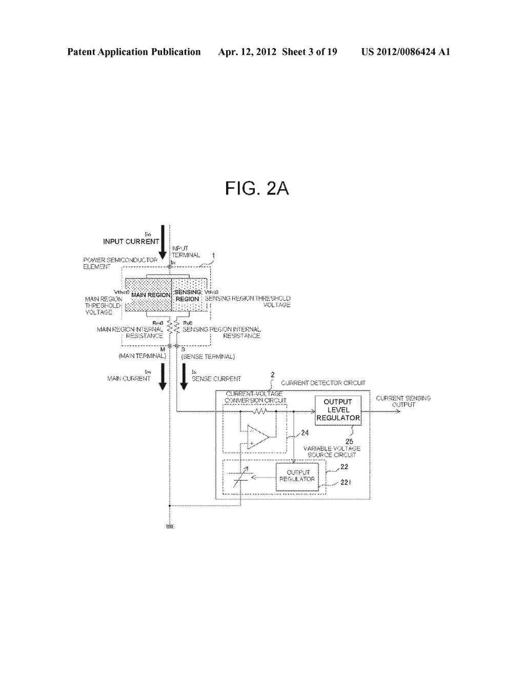 POWER SEMICONDUCTOR DEVICE CURRENT DETECTOR CIRCUIT AND DETECTION METHOD - diagram, schematic, and image 04