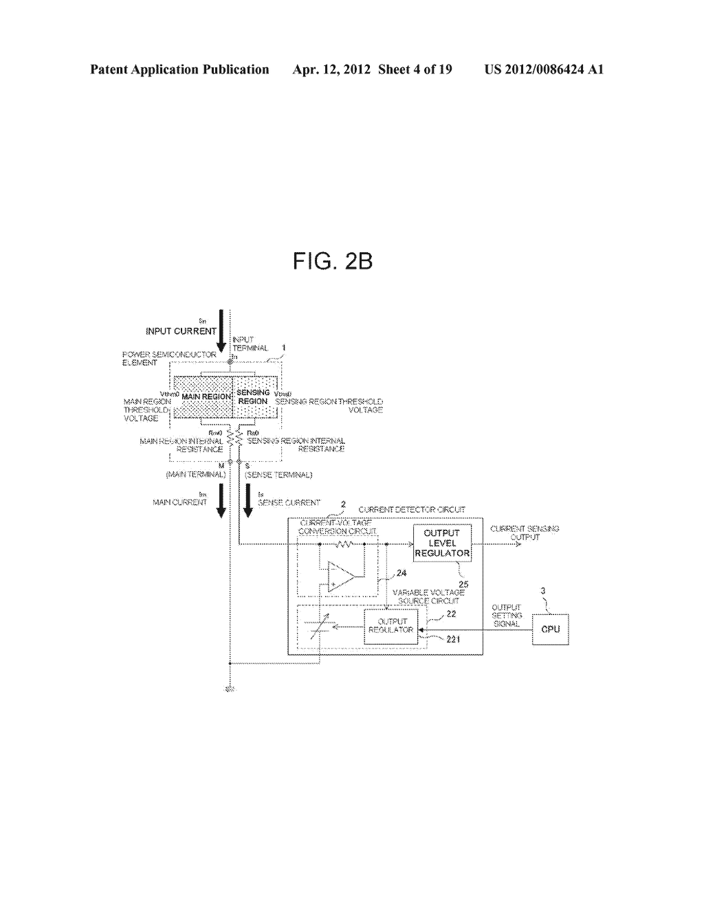 POWER SEMICONDUCTOR DEVICE CURRENT DETECTOR CIRCUIT AND DETECTION METHOD - diagram, schematic, and image 05