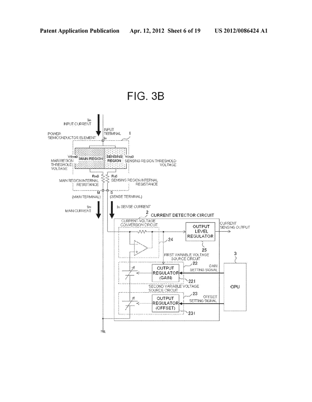 POWER SEMICONDUCTOR DEVICE CURRENT DETECTOR CIRCUIT AND DETECTION METHOD - diagram, schematic, and image 07