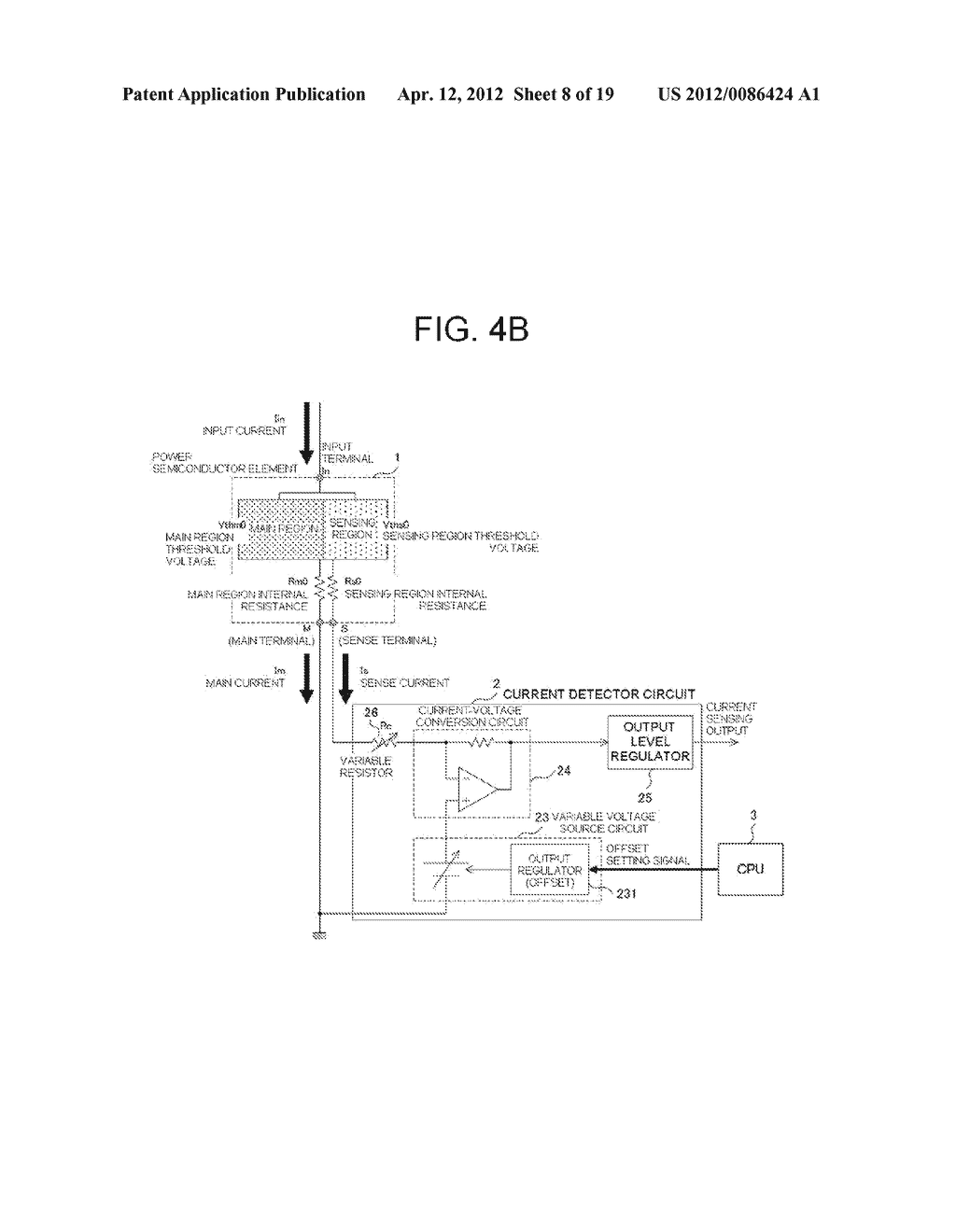 POWER SEMICONDUCTOR DEVICE CURRENT DETECTOR CIRCUIT AND DETECTION METHOD - diagram, schematic, and image 09