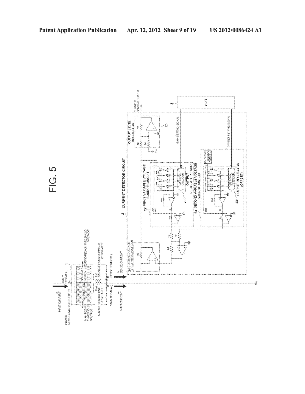 POWER SEMICONDUCTOR DEVICE CURRENT DETECTOR CIRCUIT AND DETECTION METHOD - diagram, schematic, and image 10