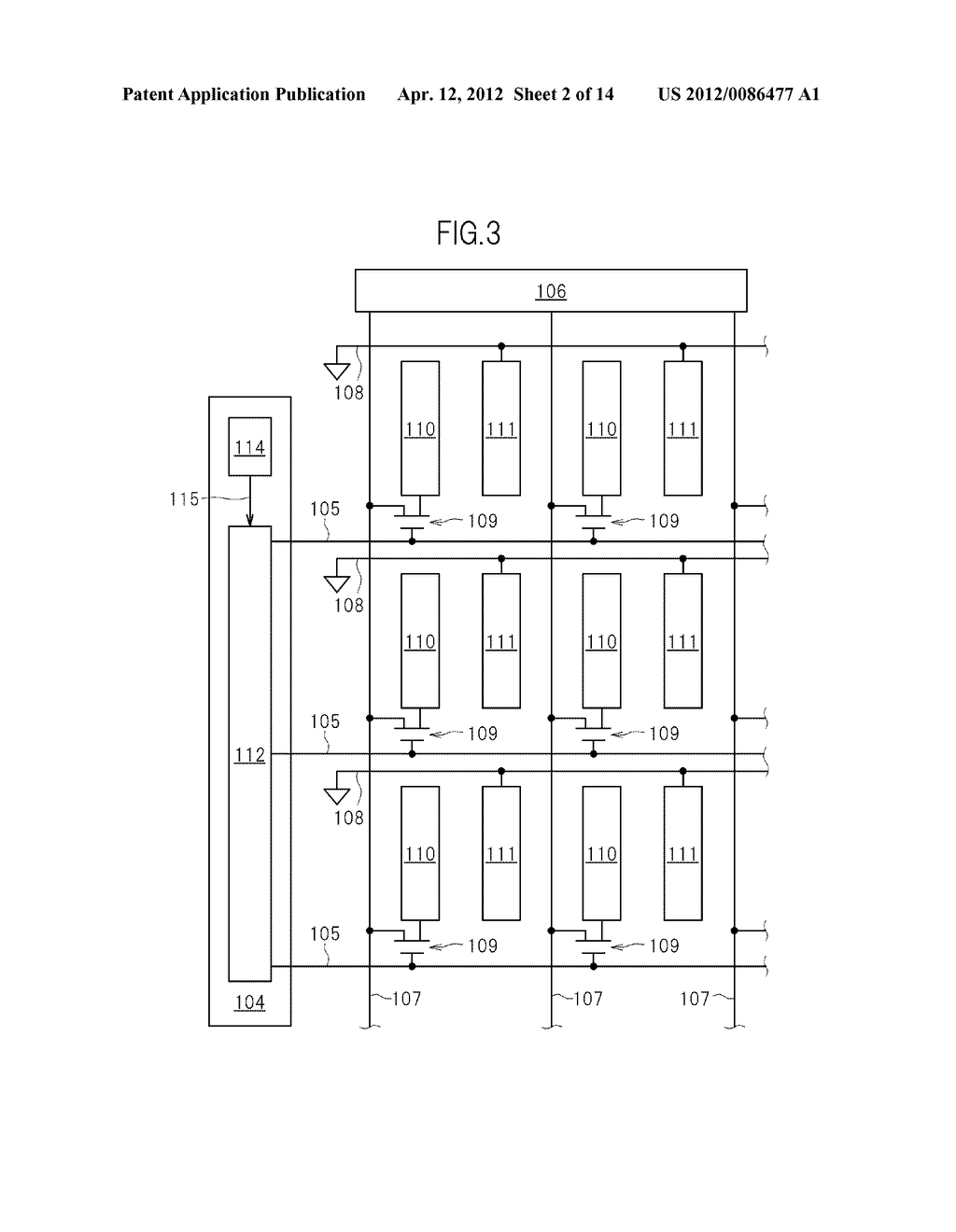 GATE SIGNAL LINE DRIVE CIRCUIT AND DISPLAY DEVICE - diagram, schematic, and image 03