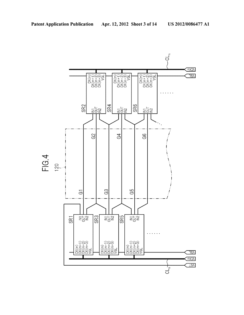 GATE SIGNAL LINE DRIVE CIRCUIT AND DISPLAY DEVICE - diagram, schematic, and image 04