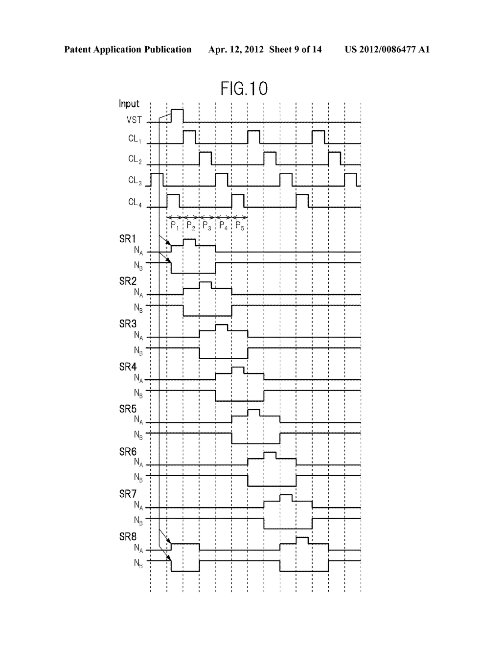 GATE SIGNAL LINE DRIVE CIRCUIT AND DISPLAY DEVICE - diagram, schematic, and image 10