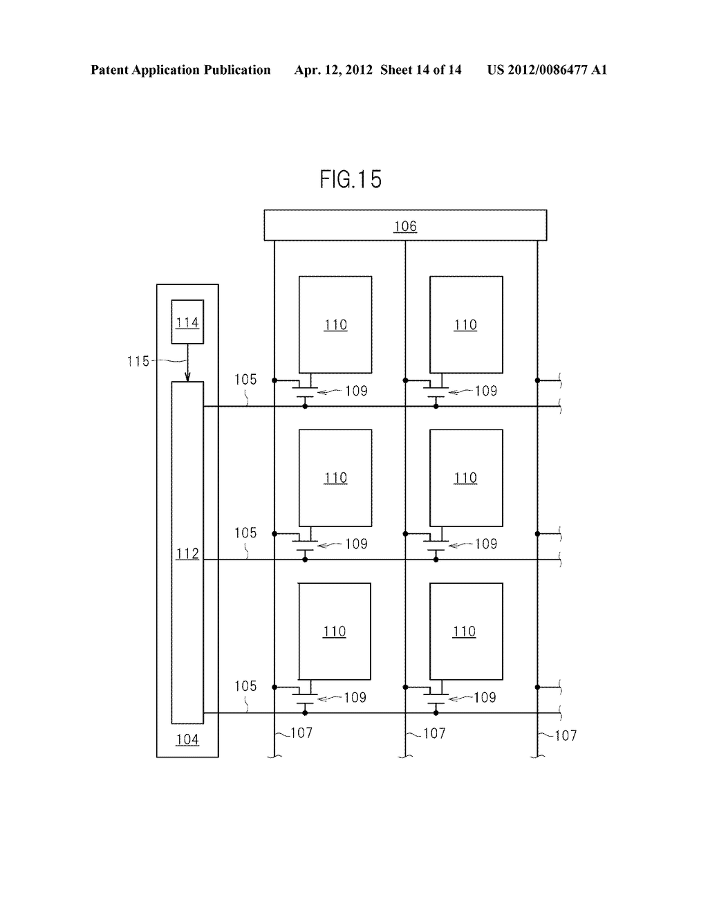 GATE SIGNAL LINE DRIVE CIRCUIT AND DISPLAY DEVICE - diagram, schematic, and image 15