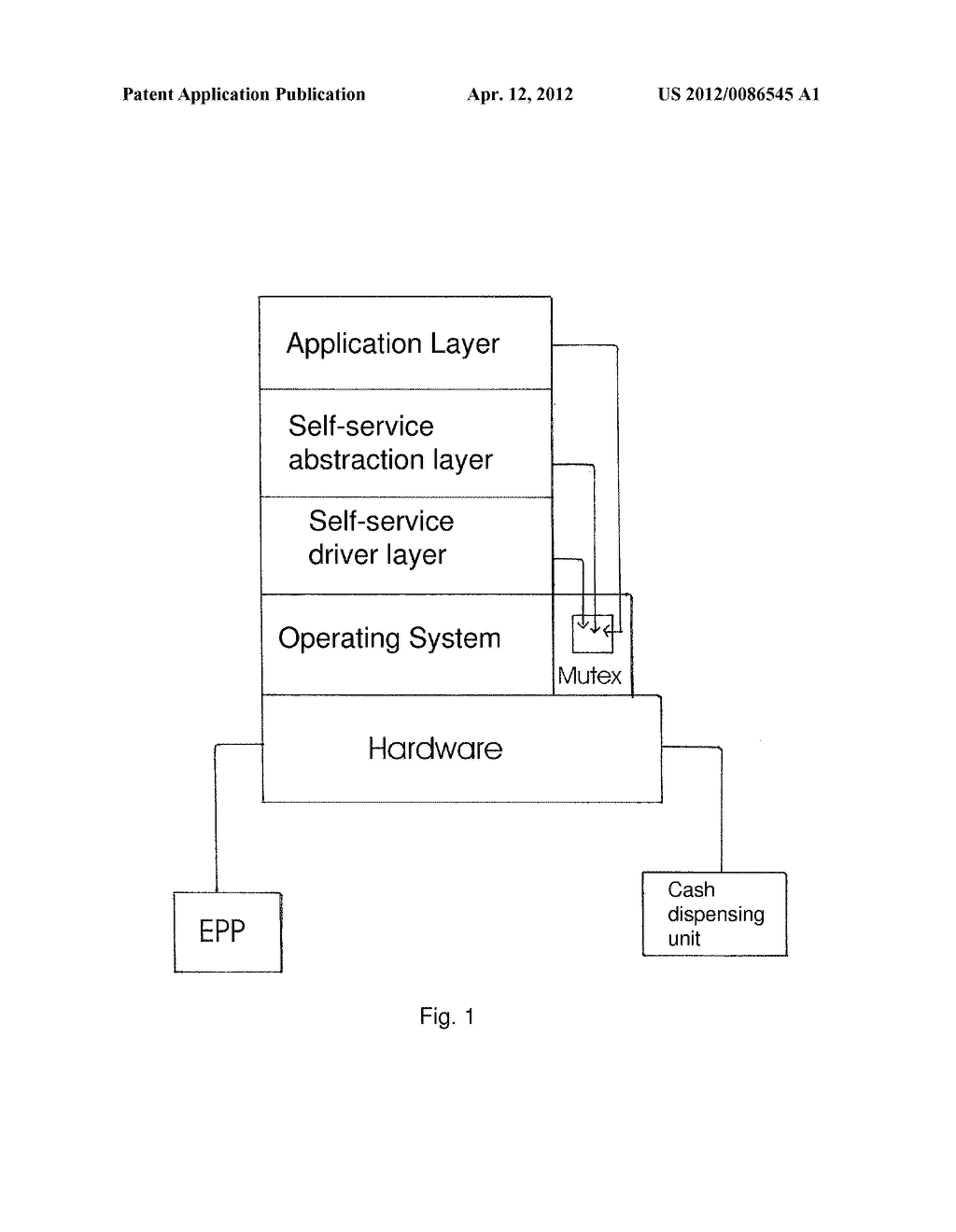 SYSTEM AND METHOD FOR THE AUTHENTICATION OF COMPONENTS WITHIN A     SELF-SERVICE MACHINE - diagram, schematic, and image 02