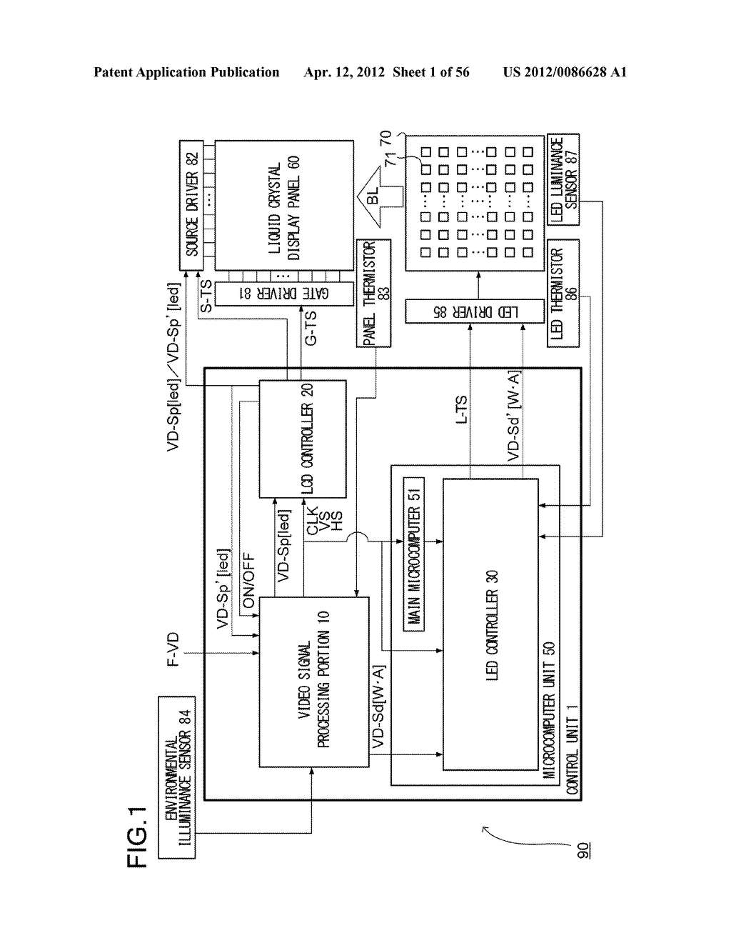 LIQUID CRYSTAL DISPLAY DEVICE AND LIGHT SOURCE CONTROL METHOD - diagram, schematic, and image 02