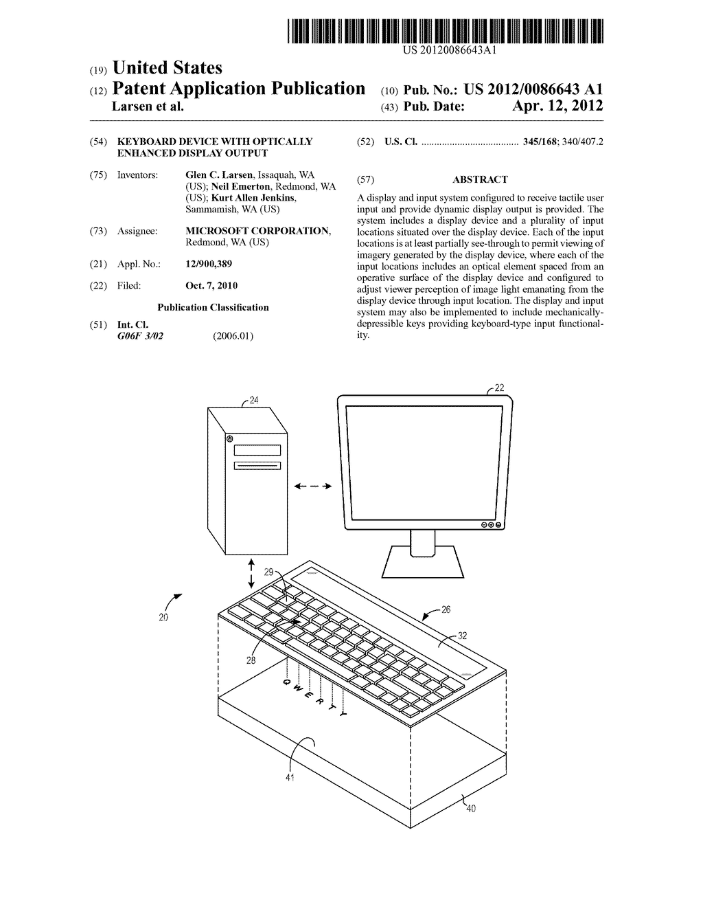KEYBOARD DEVICE WITH OPTICALLY ENHANCED DISPLAY OUTPUT - diagram, schematic, and image 01