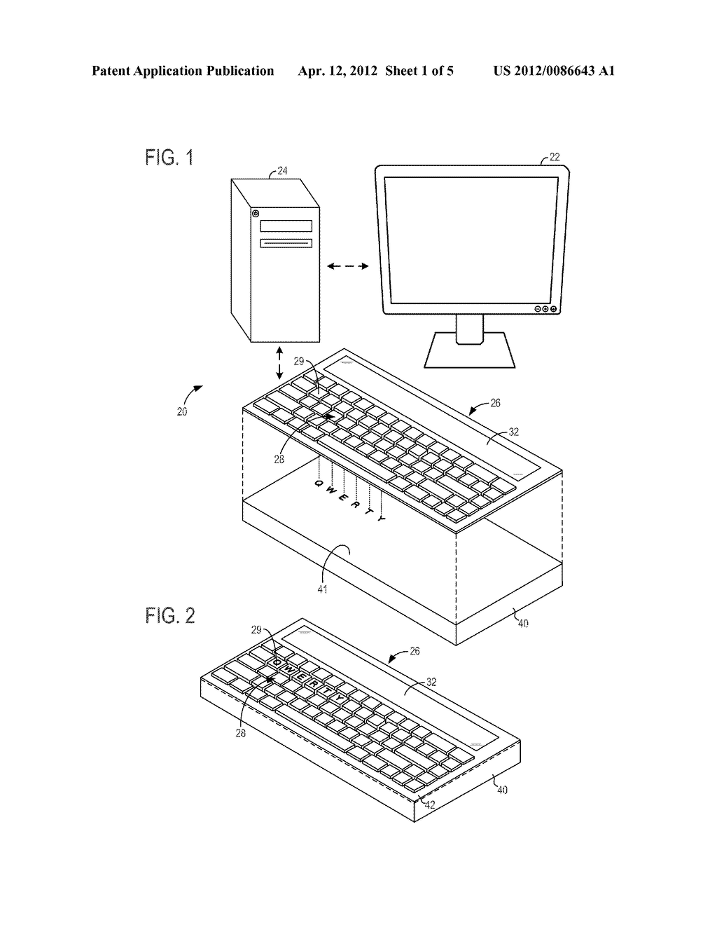 KEYBOARD DEVICE WITH OPTICALLY ENHANCED DISPLAY OUTPUT - diagram, schematic, and image 02