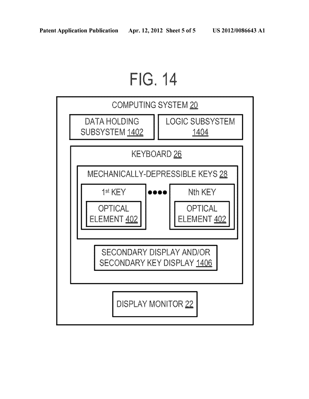 KEYBOARD DEVICE WITH OPTICALLY ENHANCED DISPLAY OUTPUT - diagram, schematic, and image 06