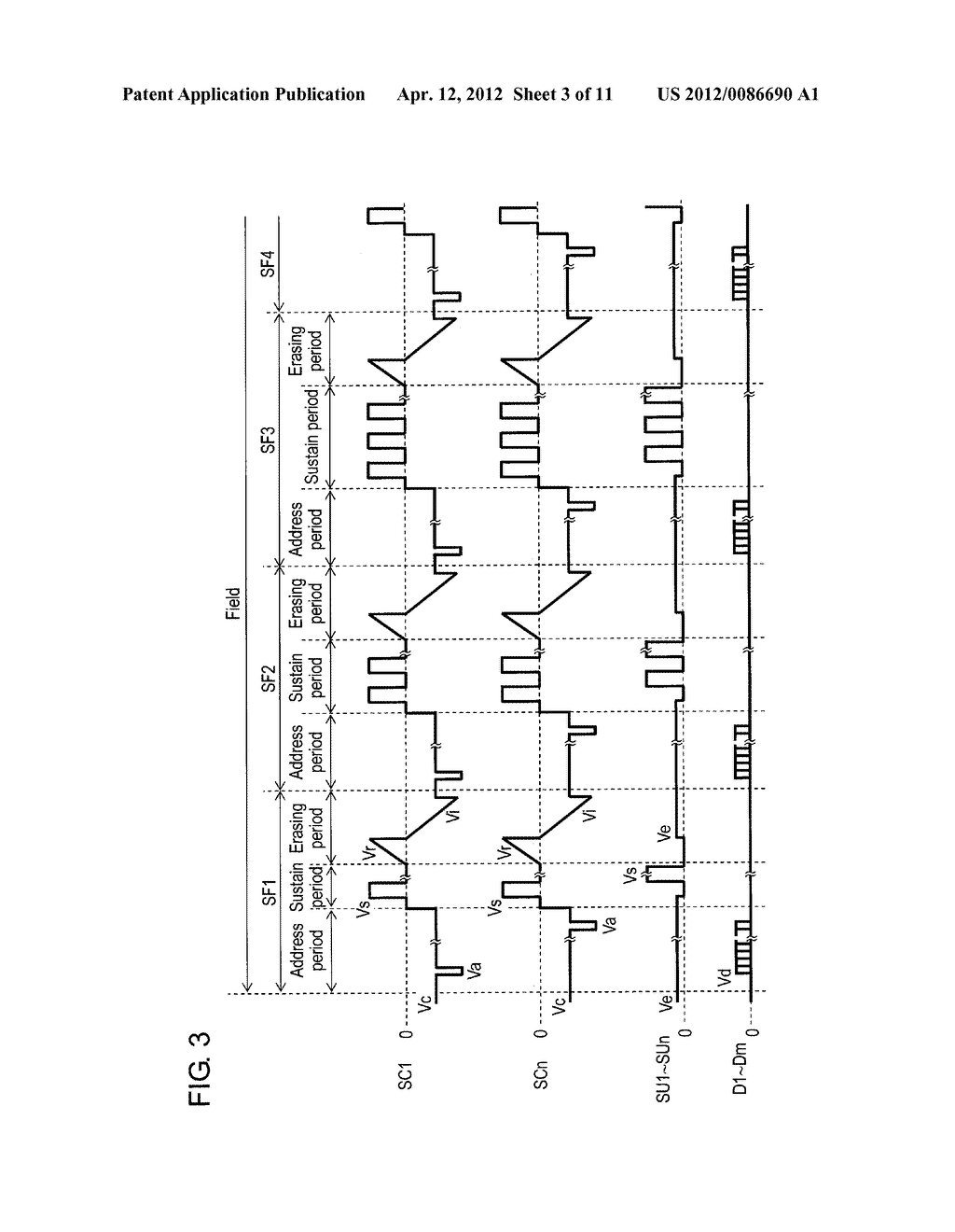 PLASMA DISPLAY PANEL DRIVE METHOD AND PLASMA DISPLAY DEVICE - diagram, schematic, and image 04