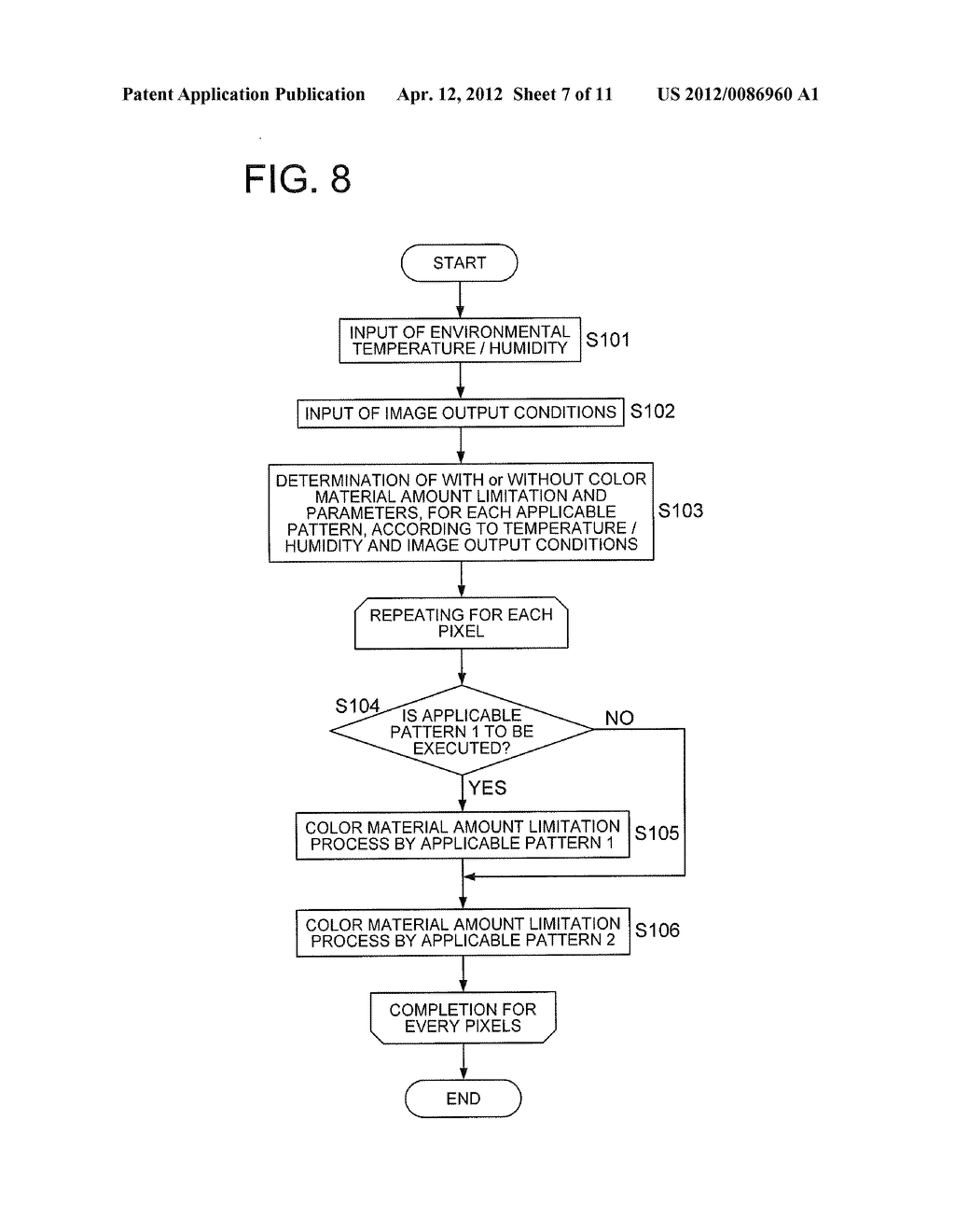 COLOR MATERIAL AMOUNT CONTROL METHOD AND IMAGE FORMING APPARATUS FOR     LIMITING AN AMOUNT OF THE COLOR MATERIAL TO BE USED FOR IMAGE FORMATION - diagram, schematic, and image 08