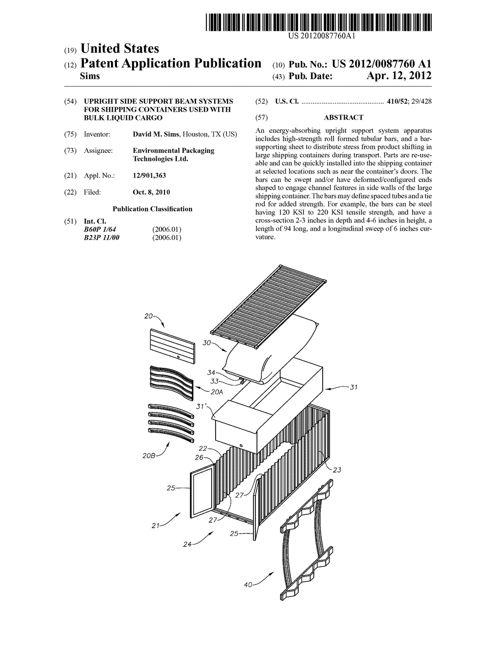 upright side support beam systems for shipping containers used with rh patentsencyclopedia com