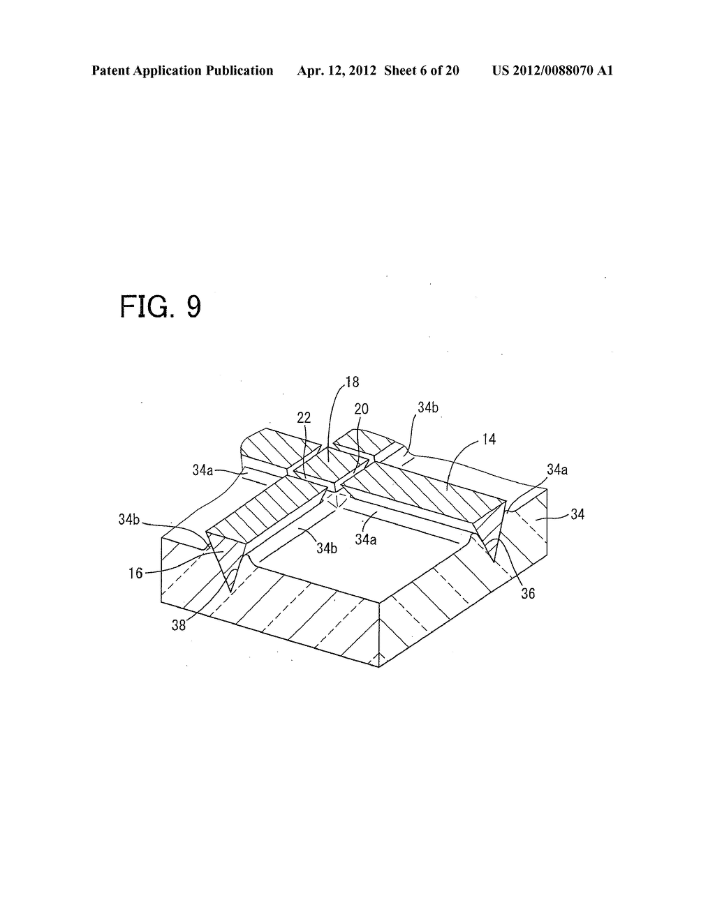 COMPOSITE FERRITE SHEET, METHOD OF FABRICATING THE COMPOSITE FERRITE     SHEET, AND ARRAY OF SINTERED FERRITE SEGMENTS USED TO FORM THE COMPOSITE     FERRITE SHEET - diagram, schematic, and image 07