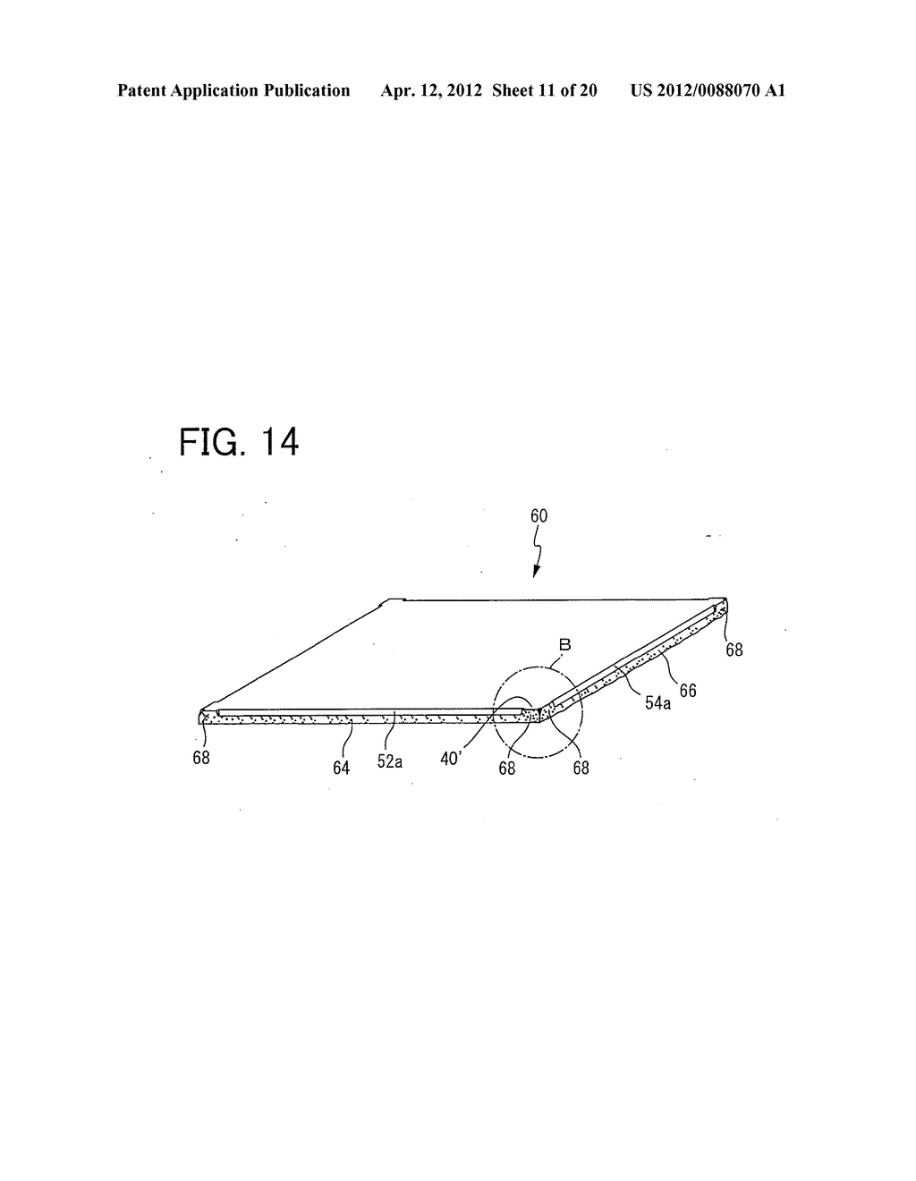 COMPOSITE FERRITE SHEET, METHOD OF FABRICATING THE COMPOSITE FERRITE     SHEET, AND ARRAY OF SINTERED FERRITE SEGMENTS USED TO FORM THE COMPOSITE     FERRITE SHEET - diagram, schematic, and image 12