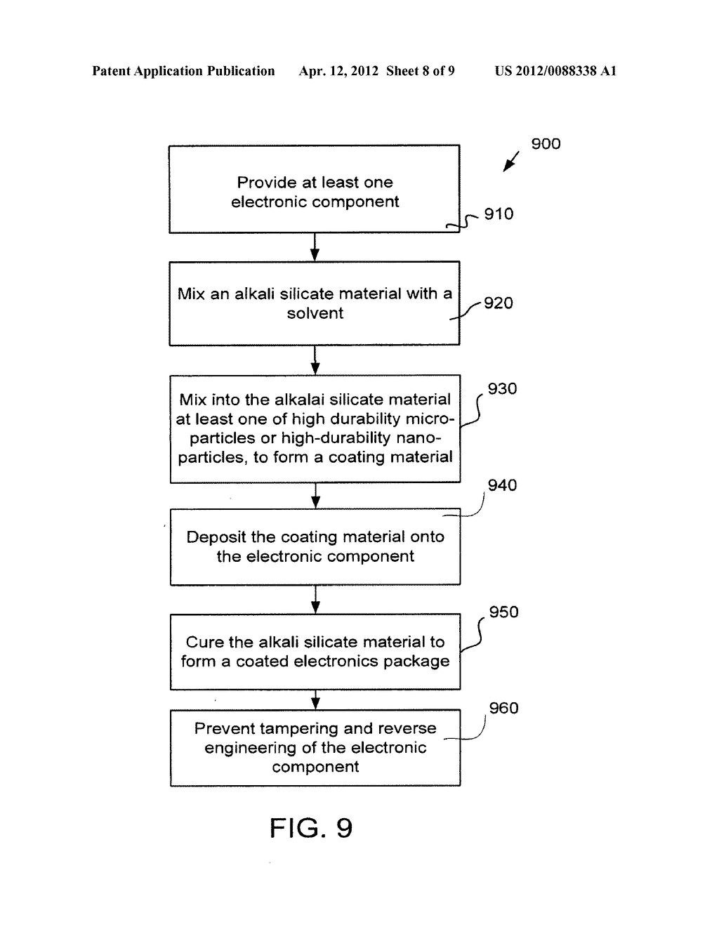INTEGRATED CIRCUIT TAMPERING PROTECTION AND REVERSE ENGINEERING PREVENTION     COATINGS AND METHODS - diagram, schematic, and image 09