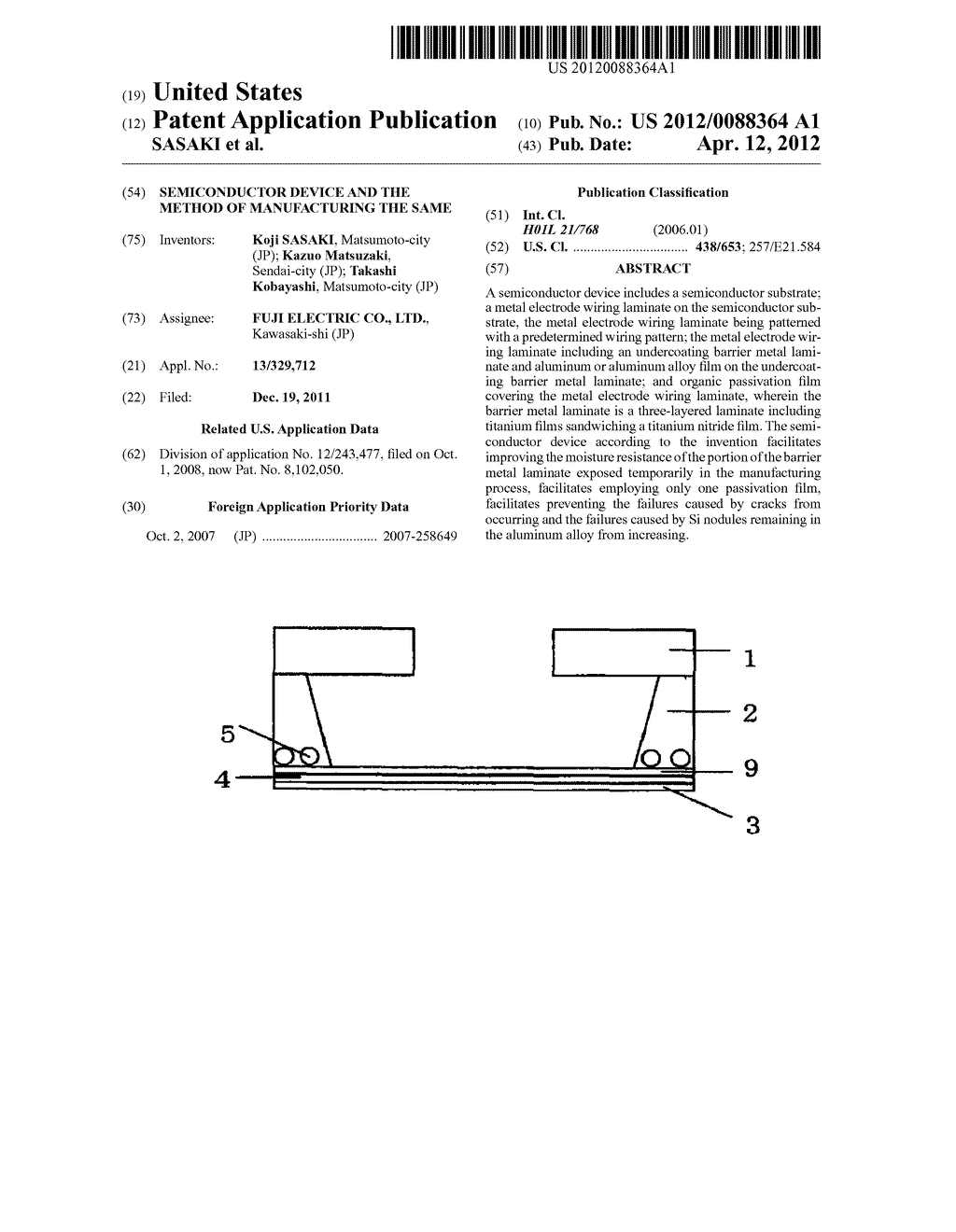 SEMICONDUCTOR DEVICE AND THE METHOD OF MANUFACTURING THE SAME - diagram, schematic, and image 01