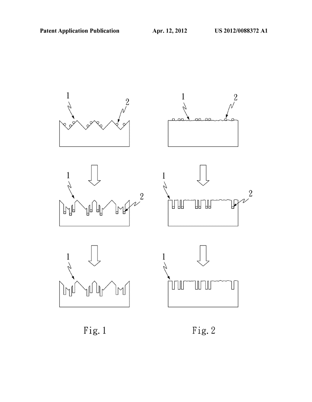 METHOD OF FORMING MICRO-PORE STRUCTURES OR TRENCH STRUCTURES ON SURFACE OF     SILICON WAFER SUBSTRATE - diagram, schematic, and image 02