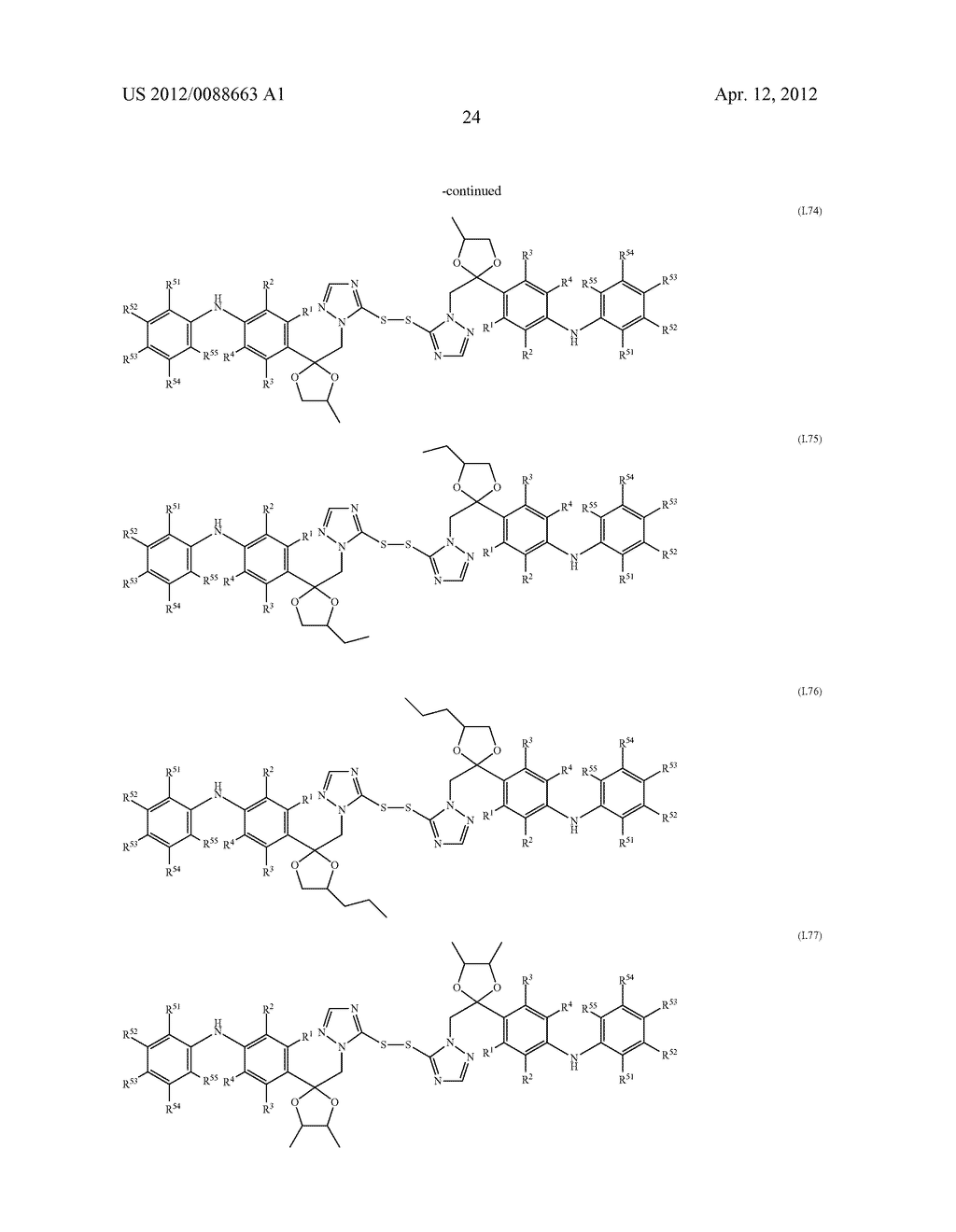 Triazole  Compounds Carrying a Sulfur Substituent - diagram, schematic, and image 25
