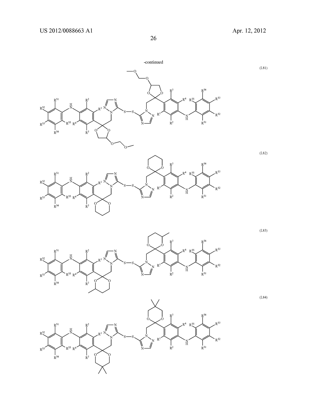 Triazole  Compounds Carrying a Sulfur Substituent - diagram, schematic, and image 27