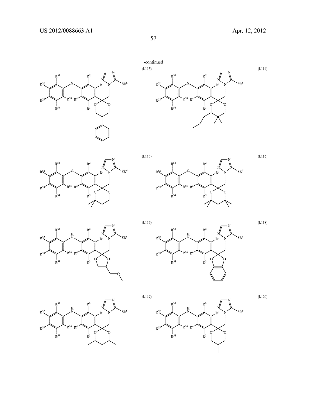 Triazole  Compounds Carrying a Sulfur Substituent - diagram, schematic, and image 58