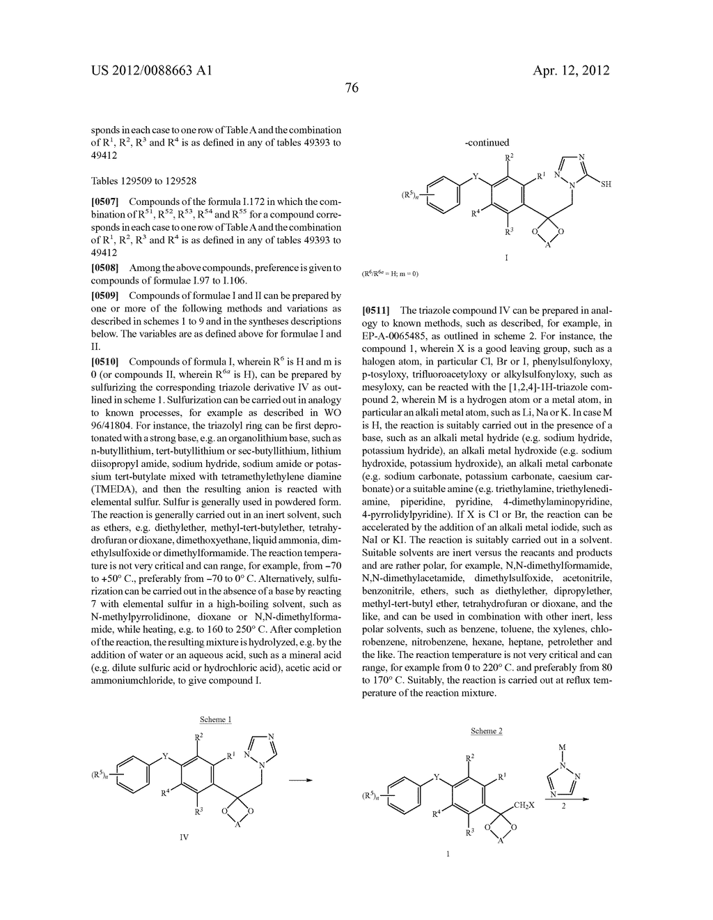 Triazole  Compounds Carrying a Sulfur Substituent - diagram, schematic, and image 77