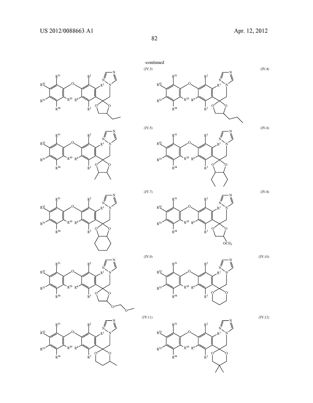 Triazole  Compounds Carrying a Sulfur Substituent - diagram, schematic, and image 83