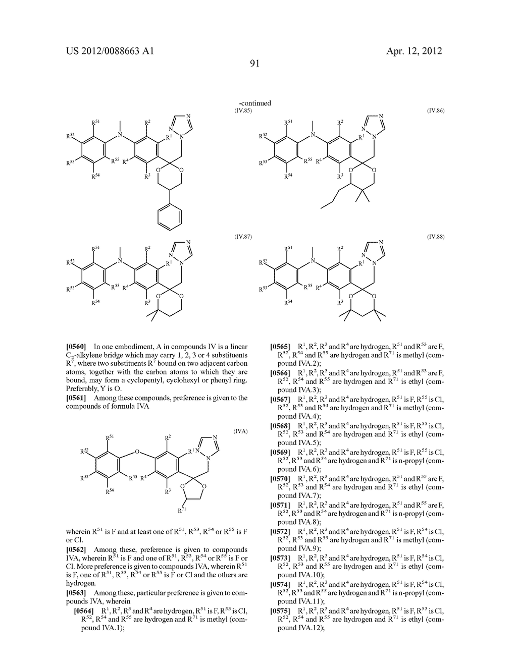 Triazole  Compounds Carrying a Sulfur Substituent - diagram, schematic, and image 92