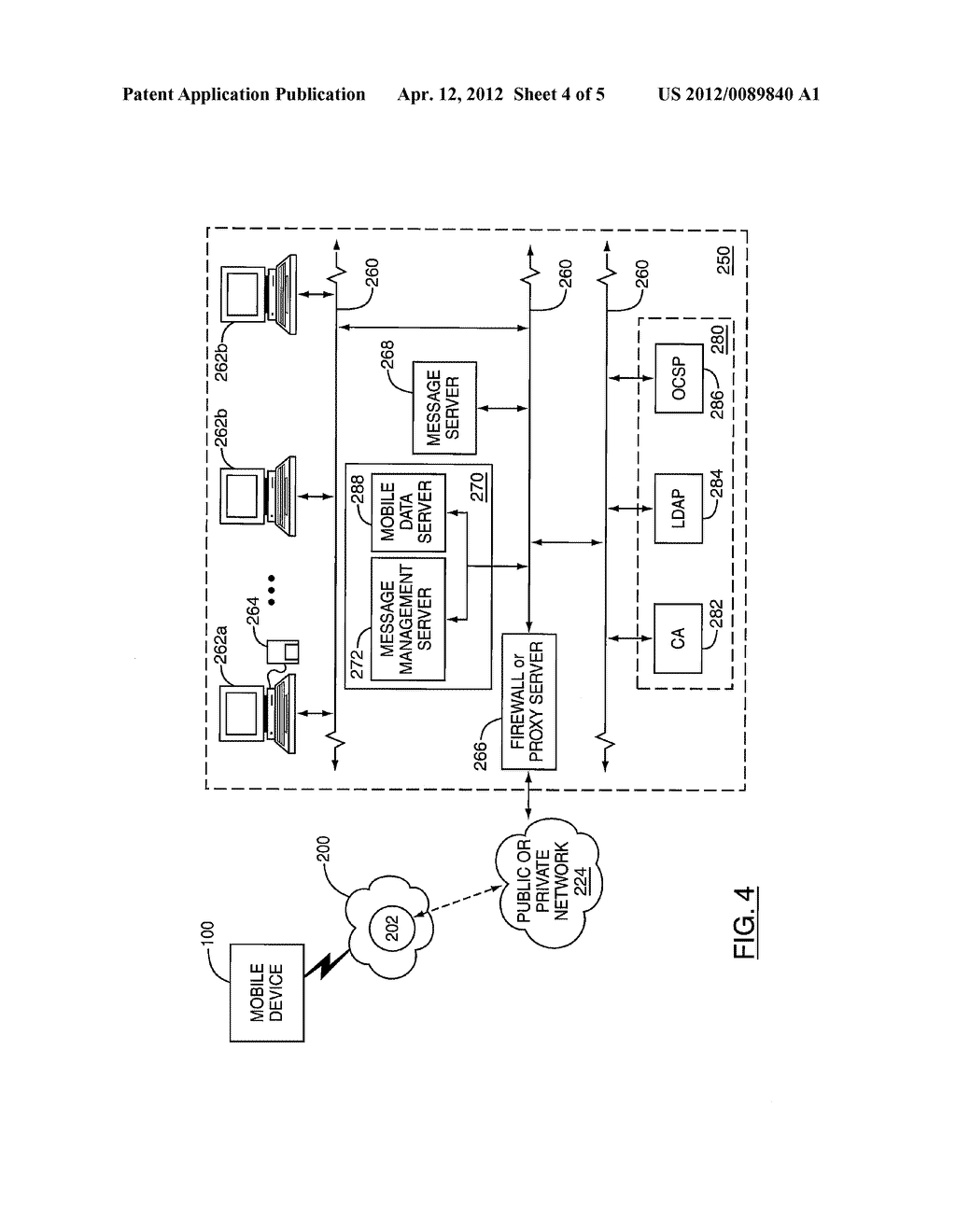 SYSTEM AND METHOD FOR CONTROLLING DATA COMMUNICATIONS BETWEEN A SERVER AND     A CLIENT DEVICE - diagram, schematic, and image 05