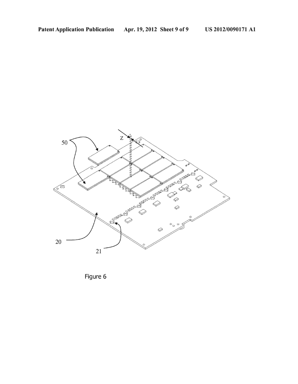 METHOD FOR MANUFACTURING A RADIATION IMAGING PANEL COMPRISING IMAGING     TILES - diagram, schematic, and image 10