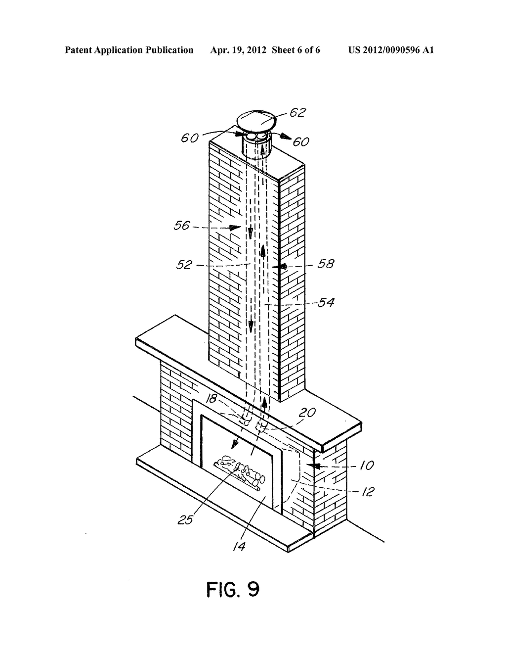 direct vent fireplace diagram