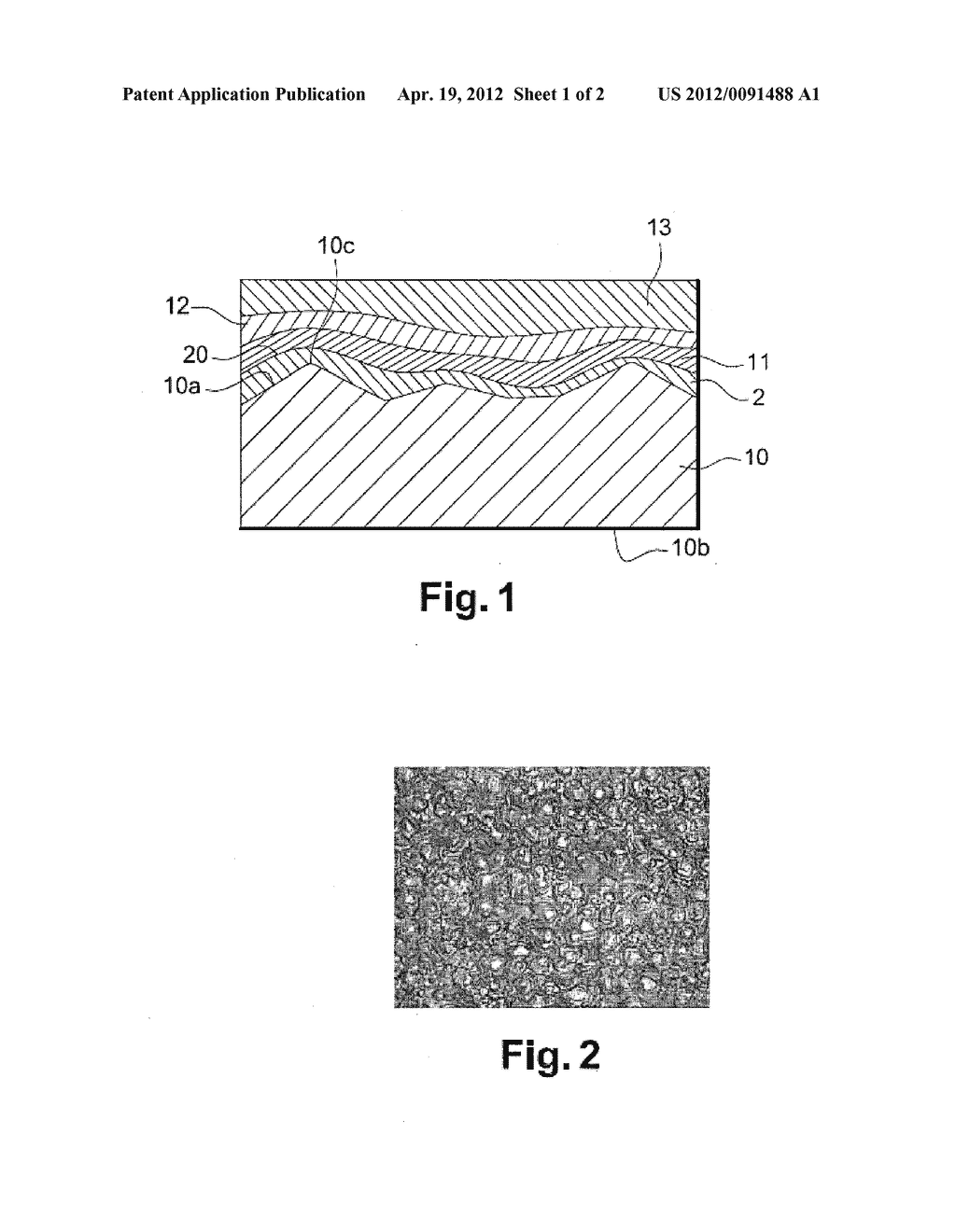 METHOD FOR MANUFACTURING A STRUCTURE WITH A TEXTURED SURFACE FOR AN     ORGANIC LIGHT-EMITTING DIODE DEVICE, AND STRUCTURE WITH A TEXTURED     SURFACE - diagram, schematic, and image 02