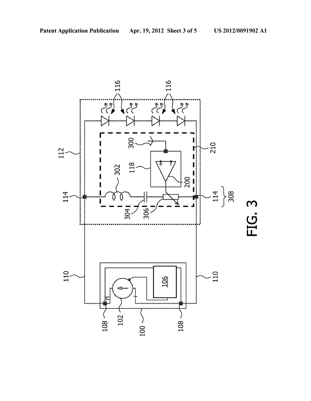 LIGHT EMITTING DEVICE SYSTEM COMPRISING A REMOTE CONTROL SIGNAL RECEIVER     AND DRIVER - diagram, schematic, and image 04