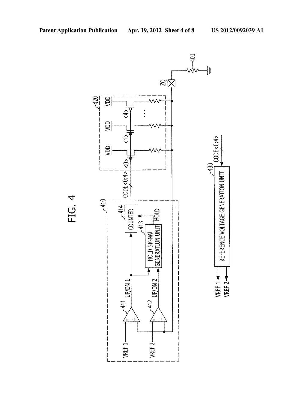 IMPEDANCE CODE GENERATION CIRCUIT AND INTEGRATED CIRCUIT INCLUDING THE     SAME - diagram, schematic, and image 05