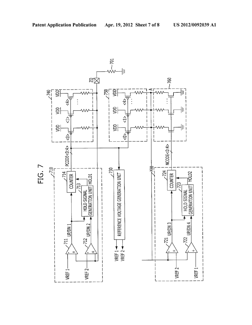 IMPEDANCE CODE GENERATION CIRCUIT AND INTEGRATED CIRCUIT INCLUDING THE     SAME - diagram, schematic, and image 08