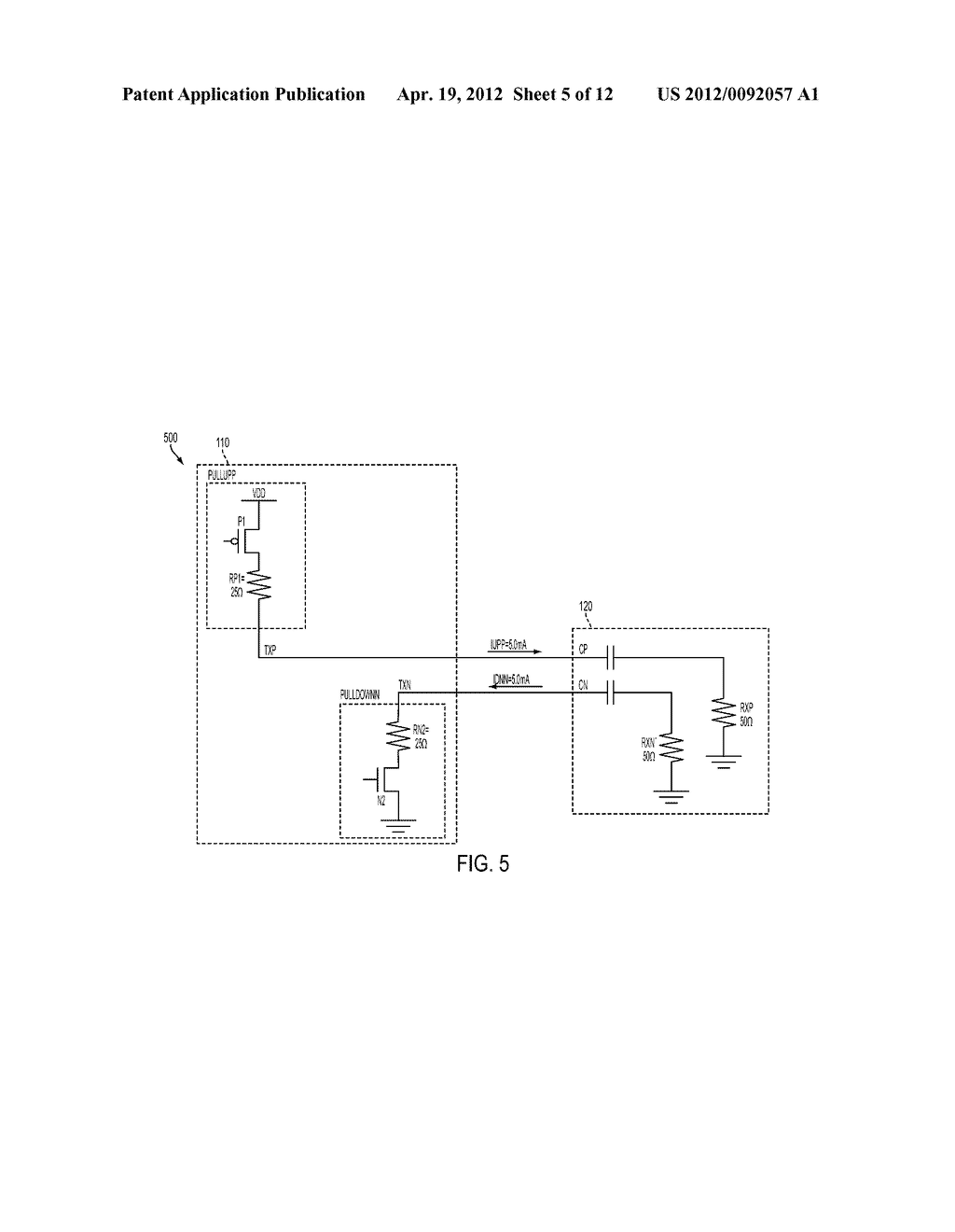 VOLTAGE-MODE DRIVER WITH CONTROLLABLE OUTPUT SWING - diagram, schematic, and image 06