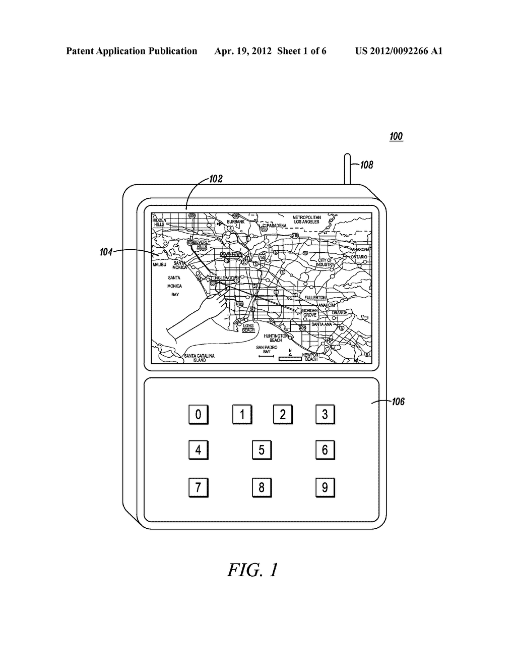 Method and Apparatus for Providing a Navigation Path on a Touch Display of     a Portable Device - diagram, schematic, and image 02