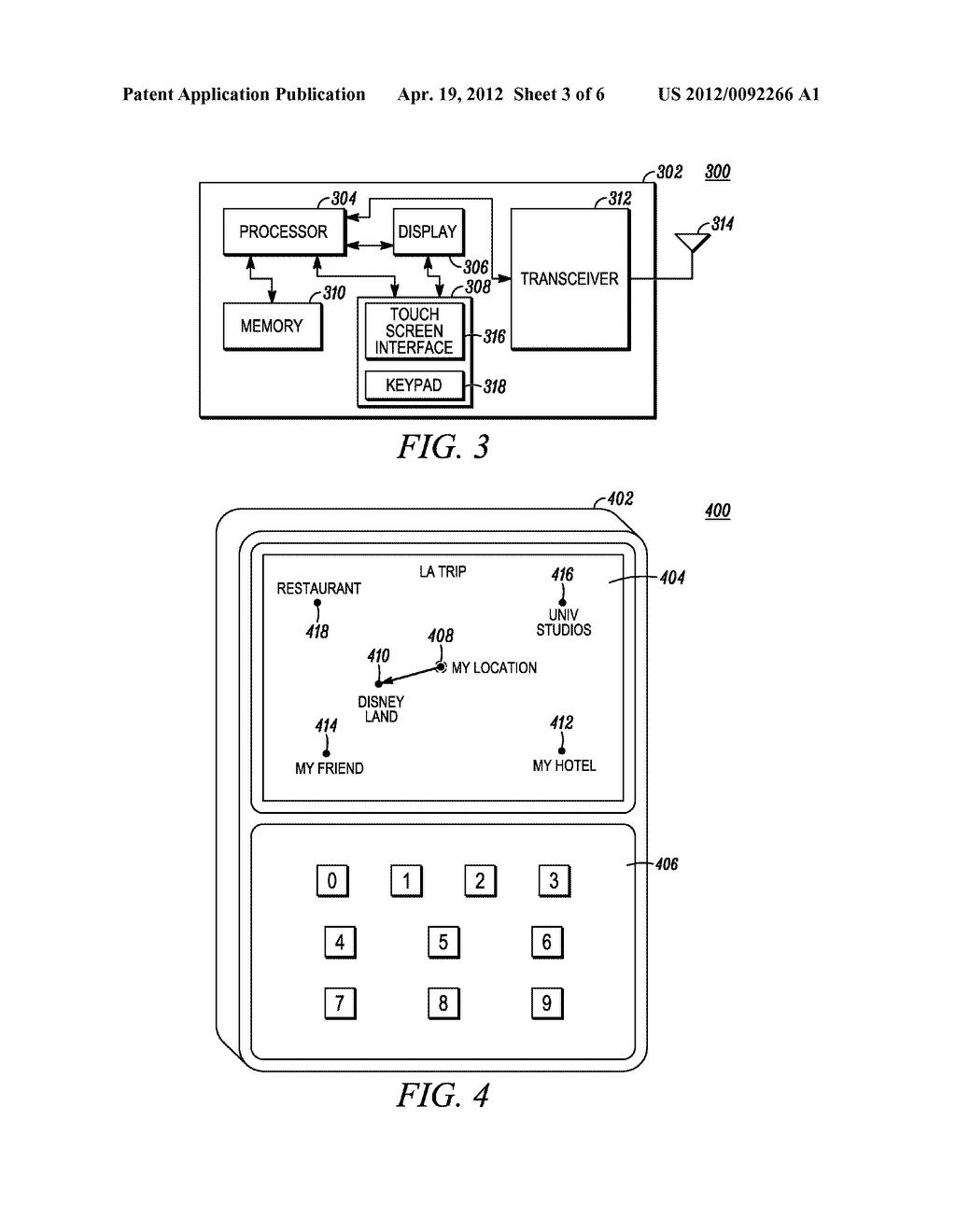 Method and Apparatus for Providing a Navigation Path on a Touch Display of     a Portable Device - diagram, schematic, and image 04