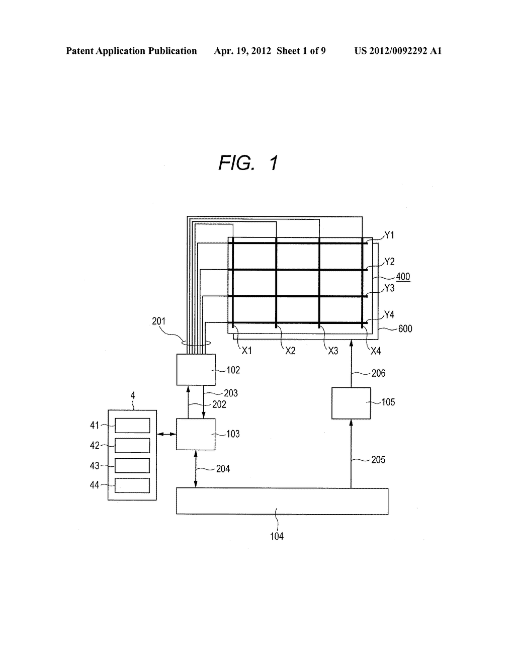 DISPLAY DEVICE HAVING TOUCH PANEL - diagram, schematic, and image 02