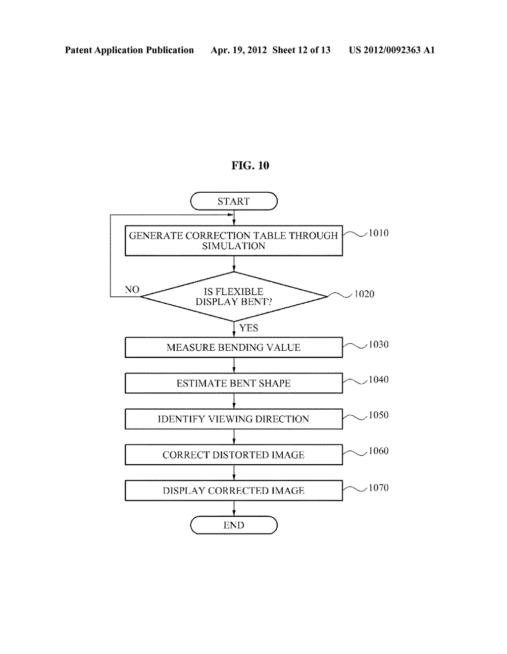APPARATUS EQUIPPED WITH FLEXIBLE DISPLAY AND DISPLAYING METHOD THEREOF - diagram, schematic, and image 13