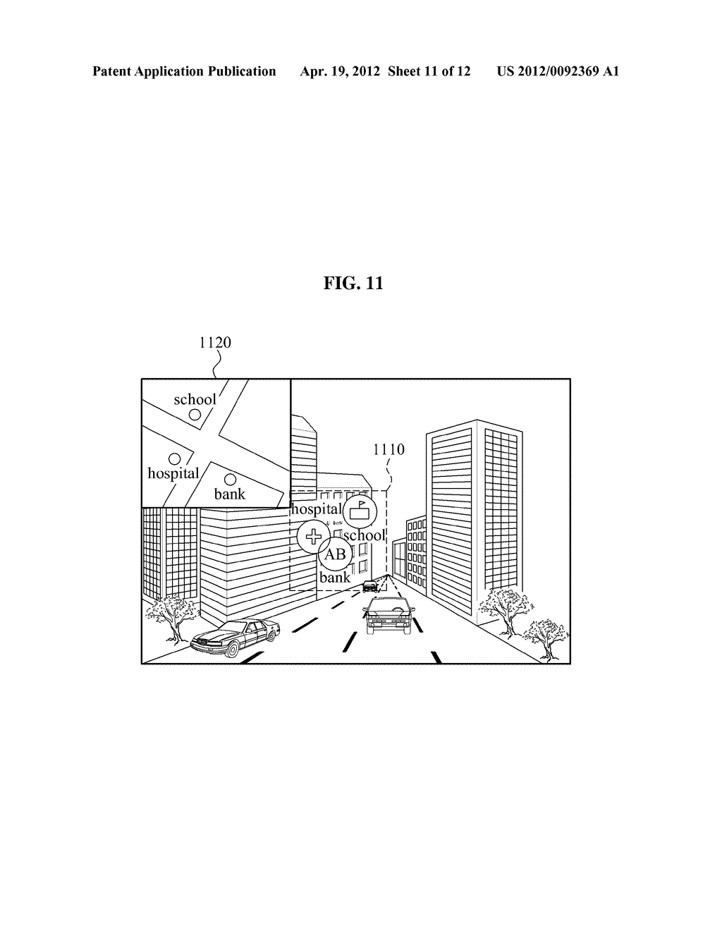 DISPLAY APPARATUS AND DISPLAY METHOD FOR IMPROVING VISIBILITY OF AUGMENTED     REALITY OBJECT - diagram, schematic, and image 12