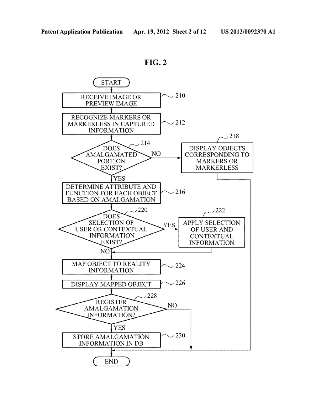 APPARATUS AND METHOD FOR AMALGAMATING MARKERS AND MARKERLESS OBJECTS - diagram, schematic, and image 03