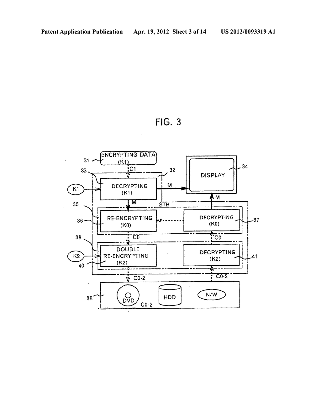 METHOD AND APPARATUS FOR PROTECTING DIGITAL DATA BY DOUBLE RE-ENCRYPTION - diagram, schematic, and image 04