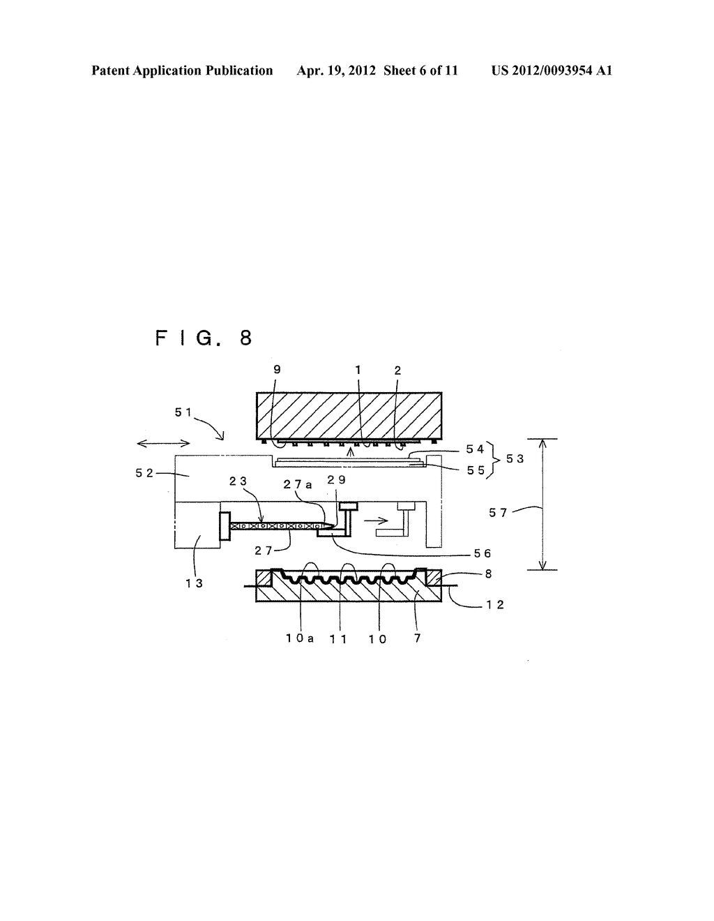 COMPRESSION MOLDING METHOD FOR ELECTRONIC COMPONENT AND COMPRESSION     MOLDING APPARATUS EMPLOYED THEREFOR - diagram, schematic, and image 07