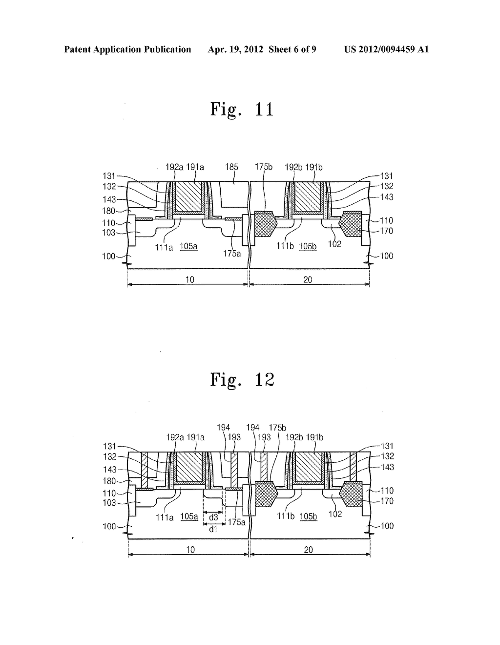 Semiconductor Devices Including Compressive Stress Patterns and Methods of     Fabricating the Same - diagram, schematic, and image 07