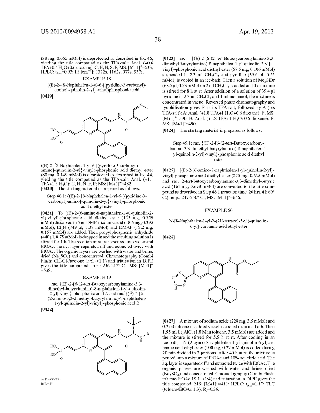 QUINOLINES AS INHIBITORS OF FARNESYL PYROPHOSPHATE SYNTHASE - diagram, schematic, and image 39