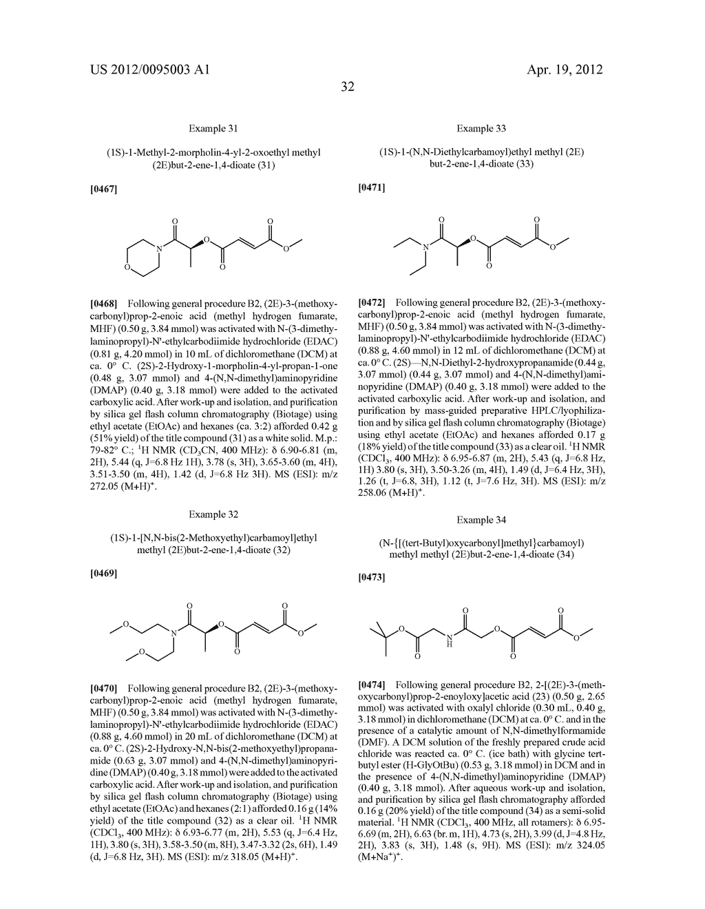 METHODS OF USING PRODRUGS OF METHYL HYDROGEN FUMARATE AND PHARMACEUTICAL     COMPOSITIONS THEREOF - diagram, schematic, and image 33
