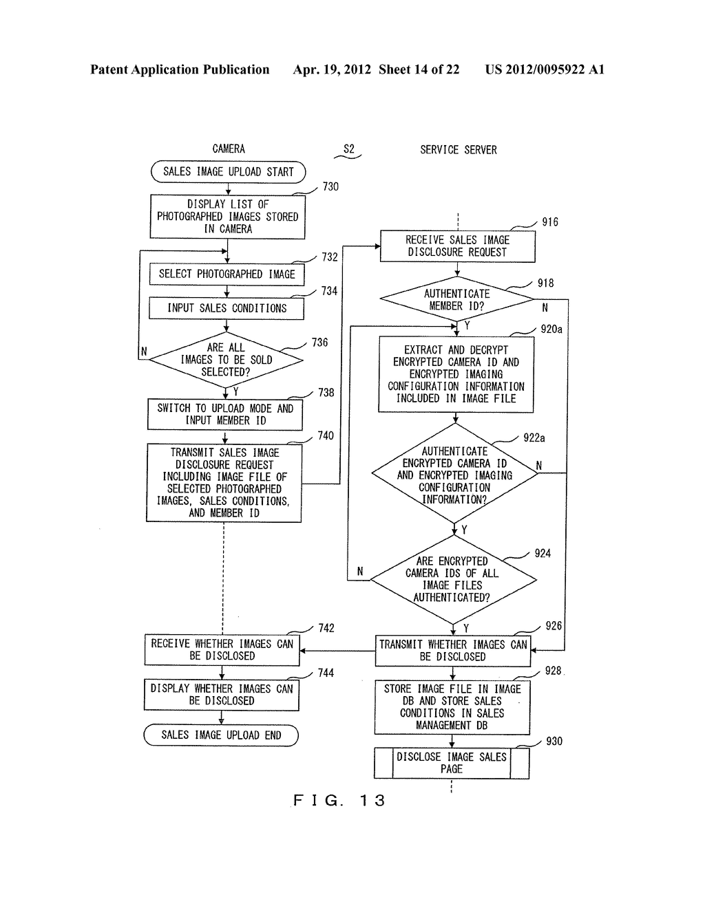 IMAGE DATA SALES SYSTEM, IMAGE DATA SALES METHOD, CAMERA,  AND SERVER     APPARATUS - diagram, schematic, and image 15