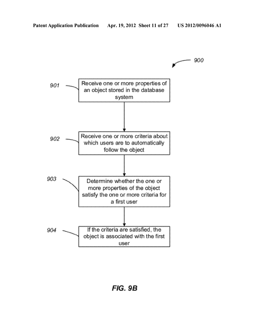 Methods and Apparatus for Discontinuing the Following of Records in an     On-Demand Database Service Environment - diagram, schematic, and image 12