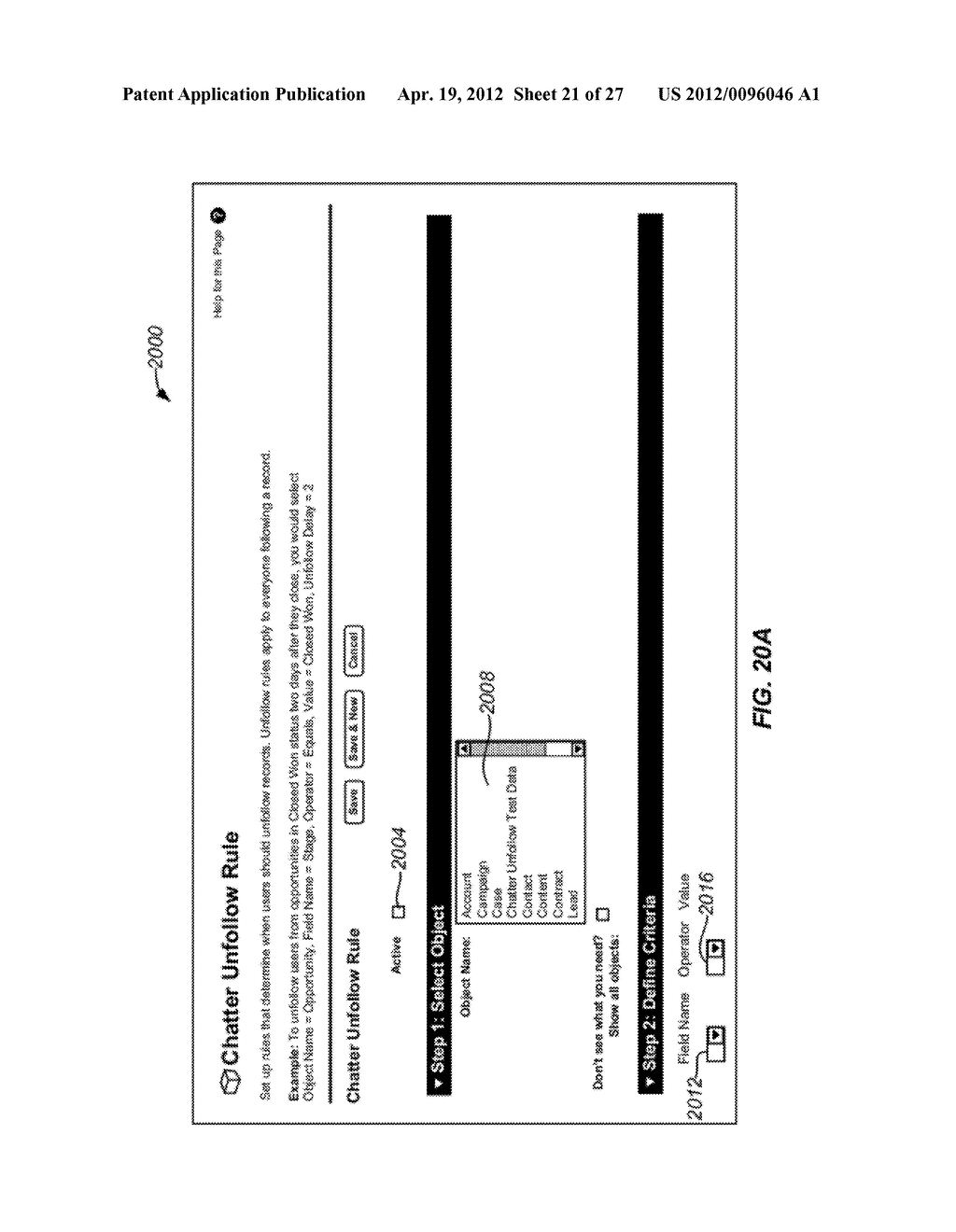 Methods and Apparatus for Discontinuing the Following of Records in an     On-Demand Database Service Environment - diagram, schematic, and image 22